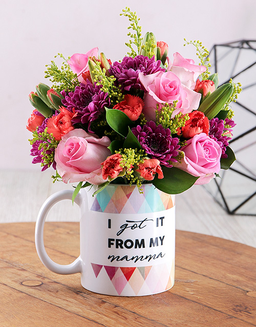 colour: From my Mama Bright Floral Arrangement Mug!