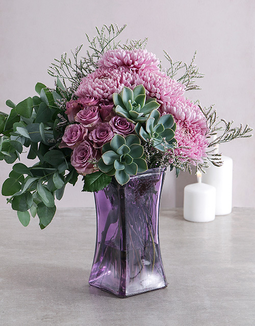 bosses-day: Ethereal Shades of Lilac and Green Arrangement!