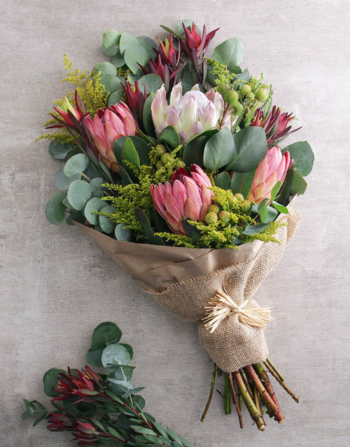 bouquets: Blushing Pink Protea Bouquet!