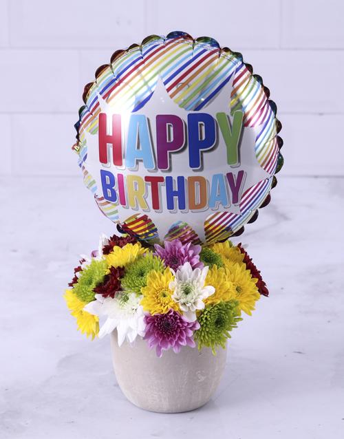 balloon: Mixed Sprays and Birthday Balloon!