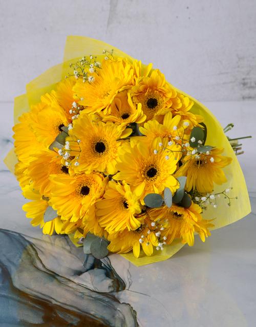 easter: Sunshine Gerbera Daisy Bouquet!
