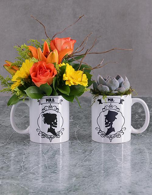 cyber-monday: Skull Flower or Succulent Mug!