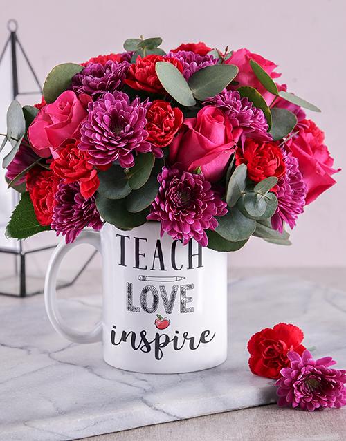 colour: Teach and Inspire Floral Mug!