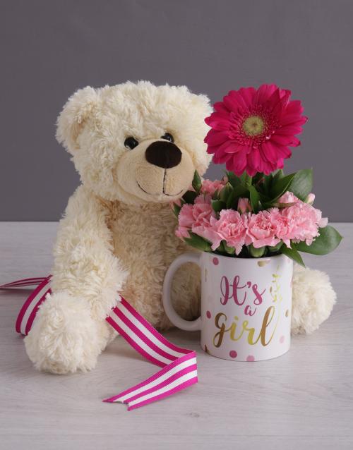 baby: Its a Girl Daisy in a Mug!