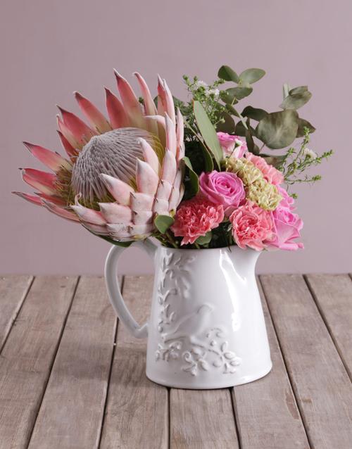 colour: Rose Protea Blossoms!