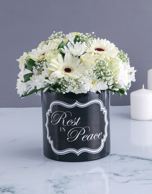 vase: White Blooms Of Peace!