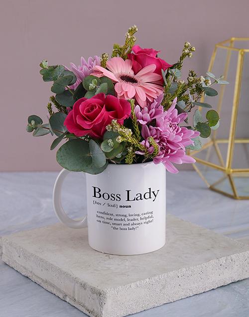 secretarys-day: Cerise Boss Lady Floral Mug!