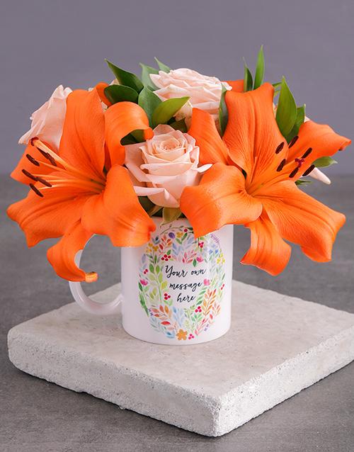 birthday: Personalised Personal Message Floral Mug!