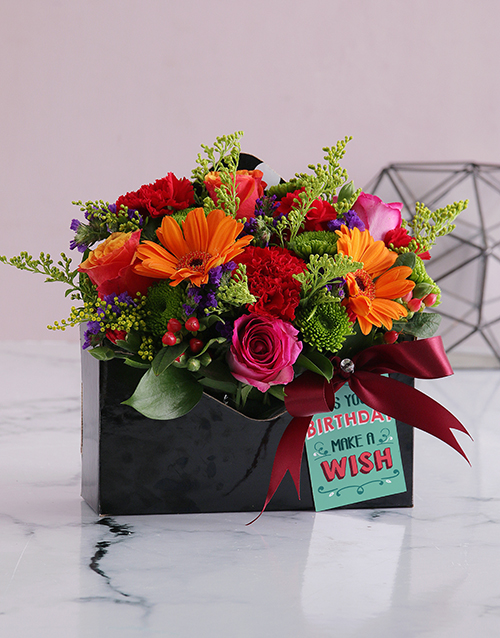 colour: Bright Blooms in Birthday Envelope Box!