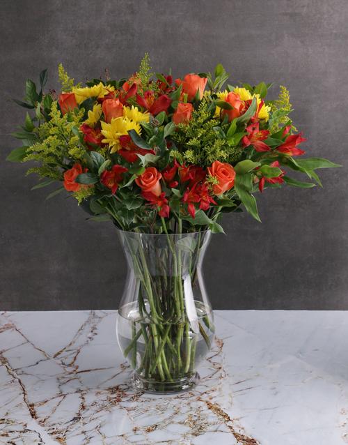 apology: Harvest Mixed Flower Vase Arrangement!