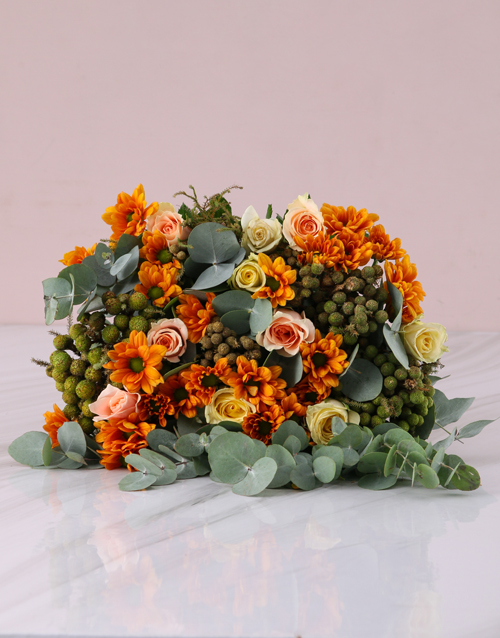 easter: Peaches and Cream Rose Bouquet!