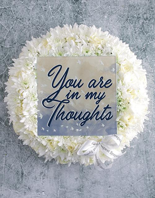 sympathy: In My Thoughts Sympathy Wreath!