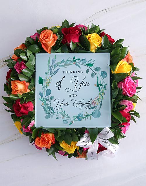 sympathy: Thinking Of You Sympathy Wreath!