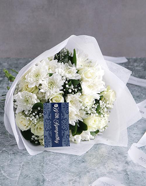 bouquets: White Bouquet Of Sympathy!