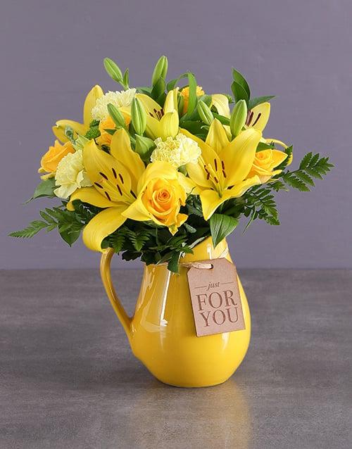 friendship: Wondrous Yellow Arrangements!
