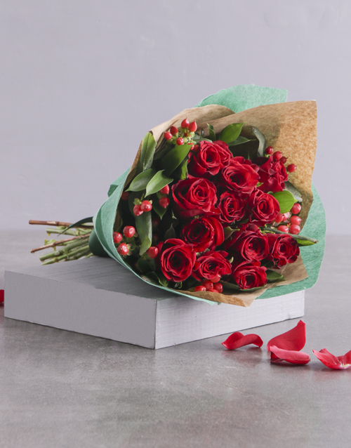 anniversary: Romantic Red Rose Bouquet!