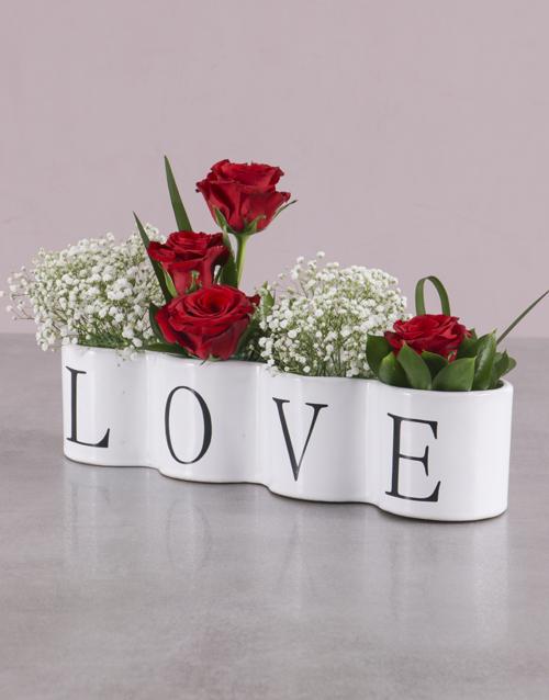colour: Love Red Rose Arrangement!