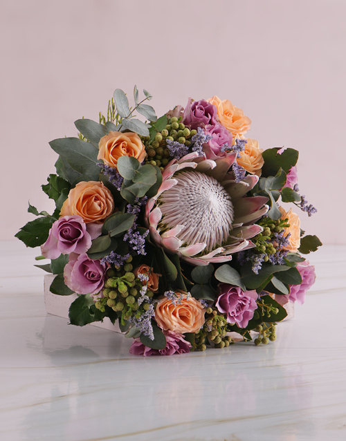 bouquets: Radiant Sunset Blossoms!