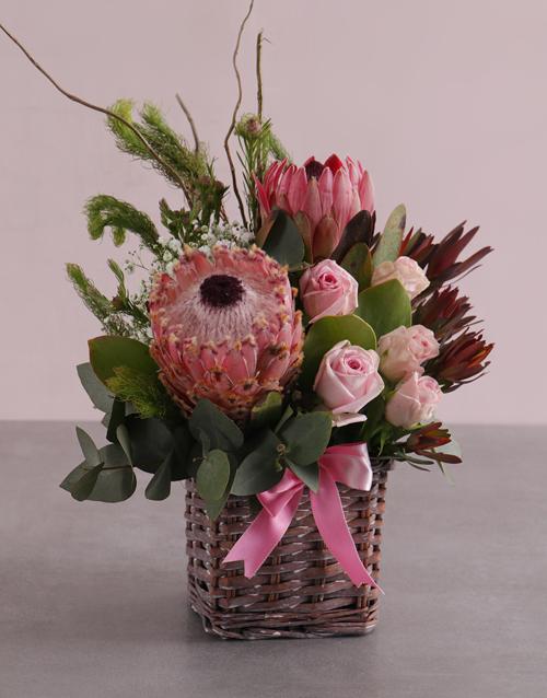 basket: Pink Blooms Variety Basket!