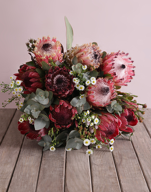 christmas: Pink Protea Floral Variety!