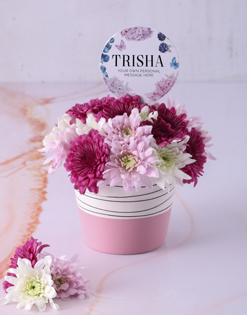 colour: Personalised Thank You Spray Pot!