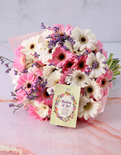 get-well: Thinking of You Gerbera Bouquet!