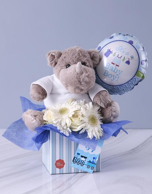 flowers: Baby Boy Rhino Hamper!