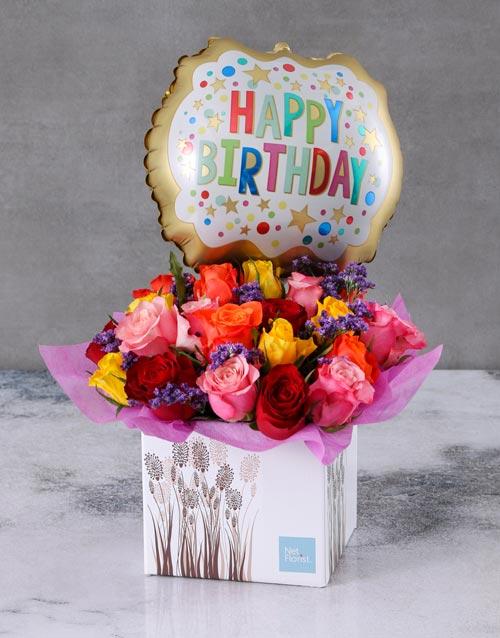 birthday: Personalised Birthday Arrangement In A Box!