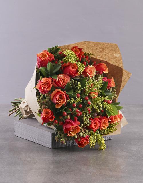 colour: Classic Cherry Brandy Rose Bouquet!