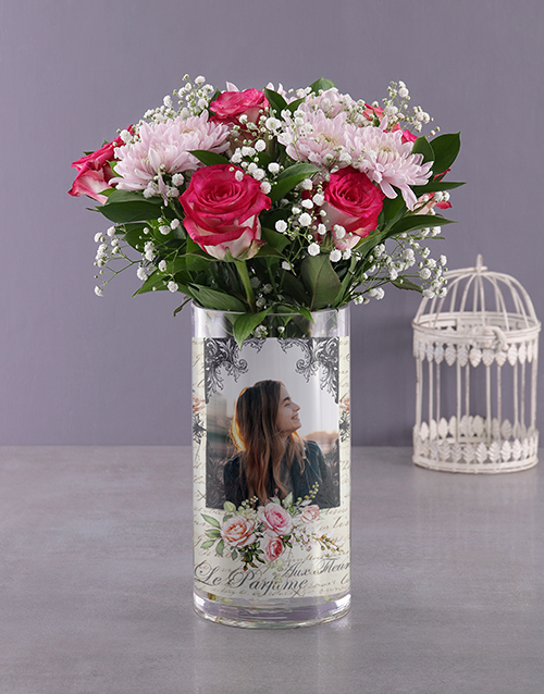 christmas: Personalised Million Star and Roses Photo Vase!