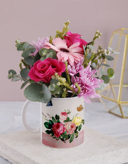 year-end: Rosy Flower Mug!