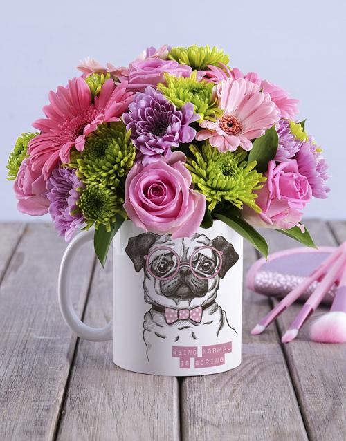 colour: Flower Pug Mug!