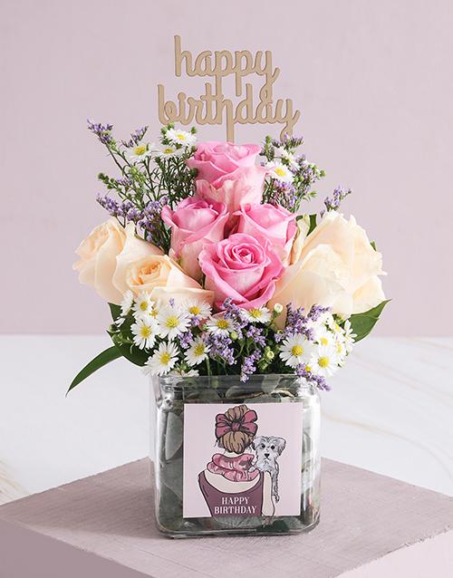 birthday: Regal Birthday Roses in a Vase!