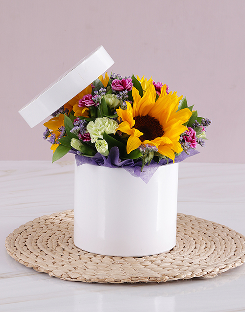 in-a-box: Sunflower Get Well Box!