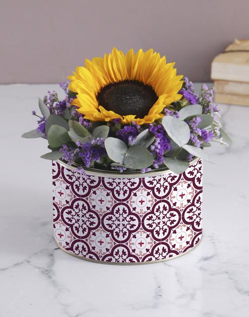 birthday: Purple Sunflower Tin!