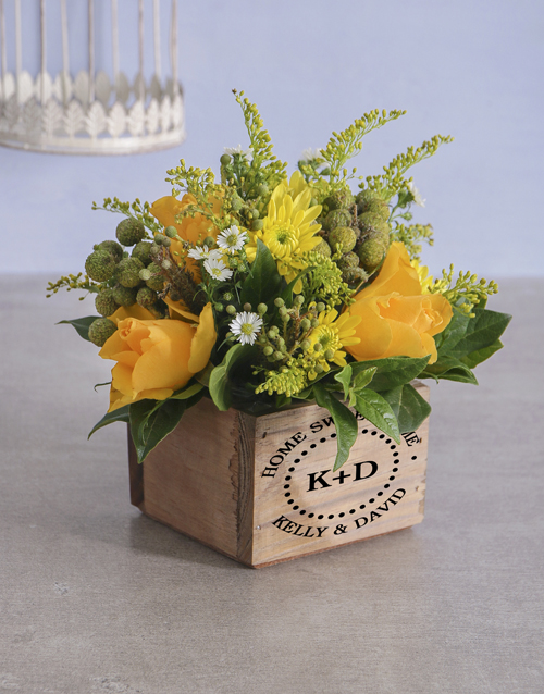 christmas: Personalised Home Sweet Mixed Flowers!
