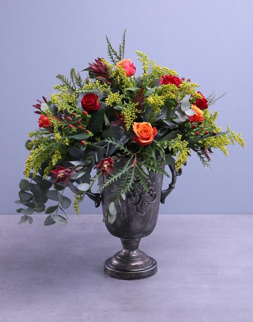 vase: Cherry Brandy Roses In Shiraz Pot!