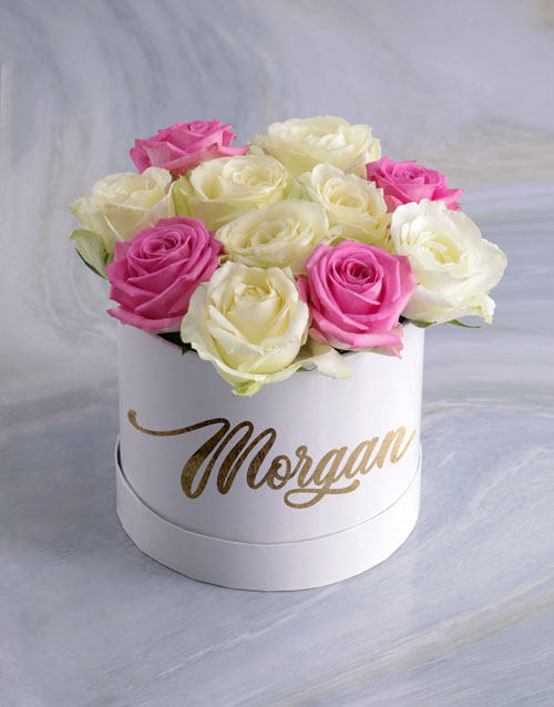 colour: Personalised Gorgeous Mixed Flowers Hat Box!