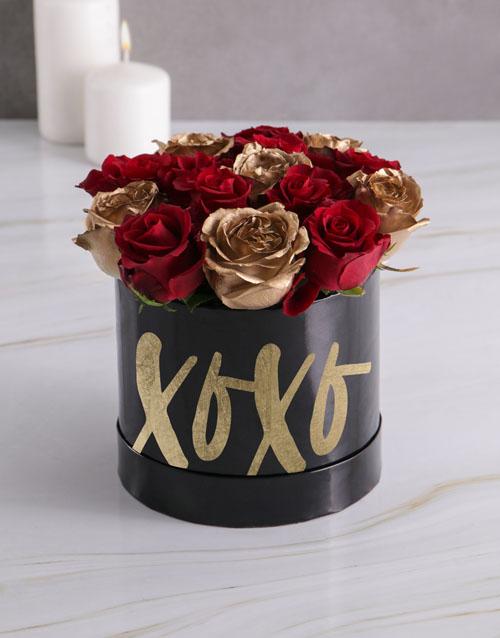 anniversary: XO Mixed Flowers Hat Box!