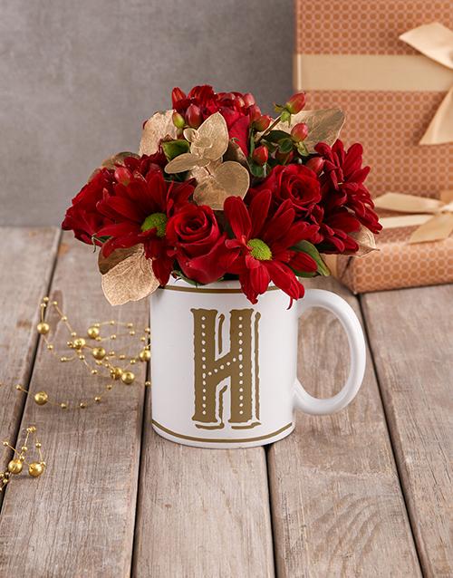 anniversary: Red Rose Blooms In Love Mug!