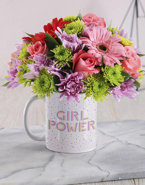 womens-day: Girl Power Floral Mug!