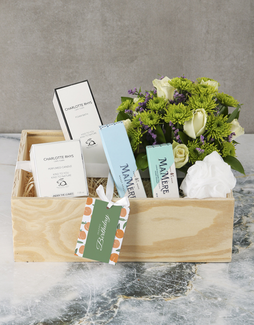 get-well: White Roses Mixed Hamper!