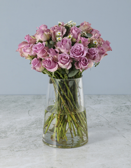 get-well: Whimsical Lilac Roses Arrangement!