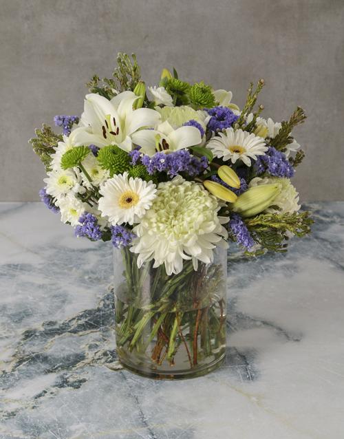 vase: Fresh Sensations Mixed Flowers Arrangement!