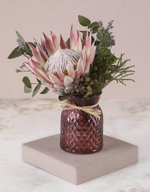 coloured-vases: Elegant Protea Arrangement!
