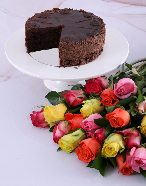 birthday: Radiant Roses And Chateaux Gateaux Chocolate Cake!