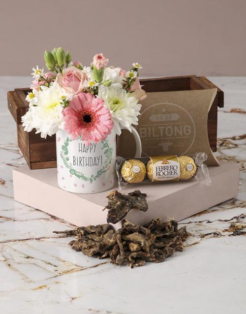 colour: Polished Pastels Happy Birthday Mug Arrangement!