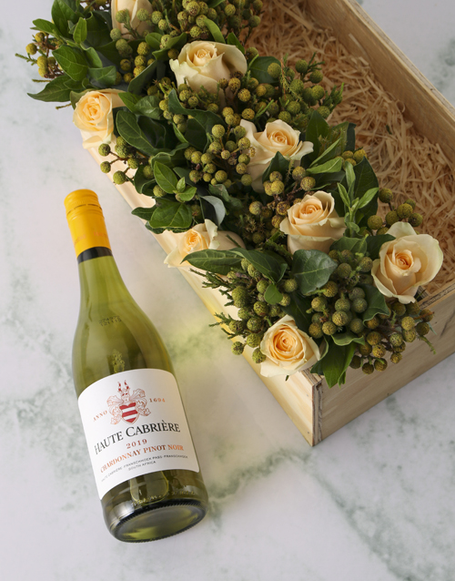 wooden-crates: Cream Roses And Chardonnay Surprise!