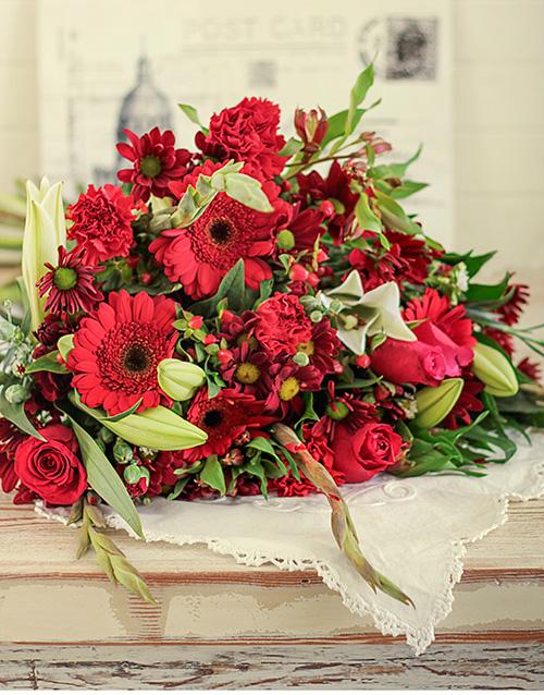 anniversary: Red Flower Bouquet!