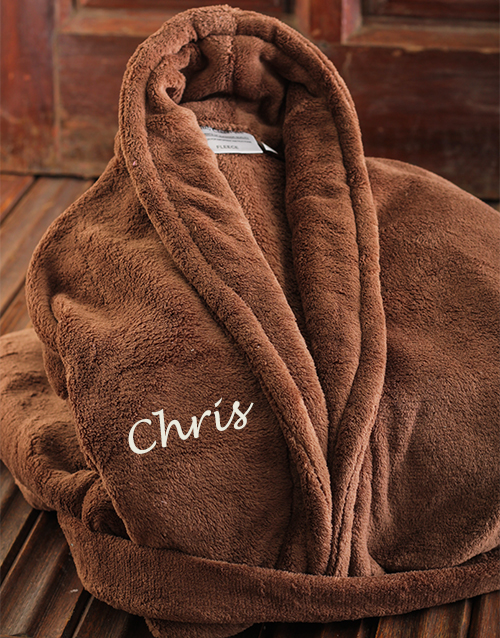 fathers-day: Personalised Brown Gown!